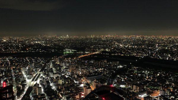 No 361  冬の屋上からの夜景